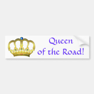 Blue Queen of the Road Bumper Sticker