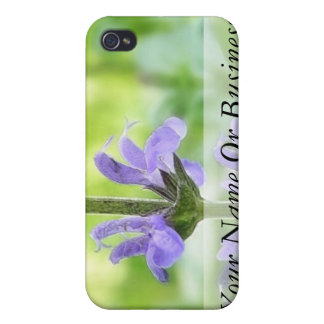Blue Queen Salvia Flowers Case For iPhone 4