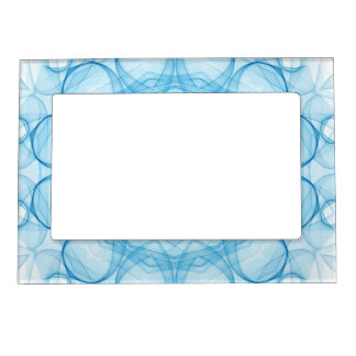 blue queens kaleidoscope photo frame magnets
