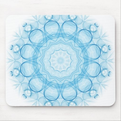 Blue Queens Mouse Pad