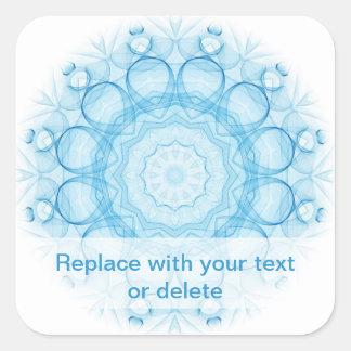 Blue Queens Square Sticker