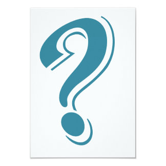 BLUE QUESTION MARK GRAPHICS CURIOUS CARD