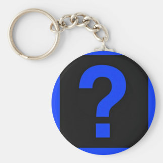 Blue Question Mark Information Area Keychain
