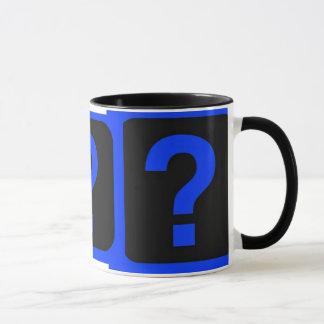 Blue Question Mark Information Area Mug