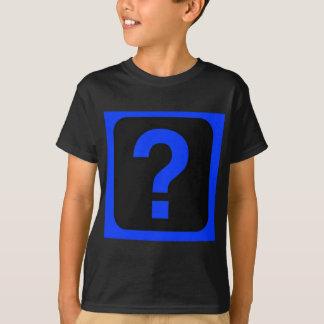 Blue Question Mark Information Area T-Shirt