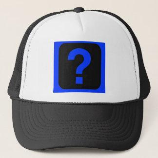 Blue Question Mark Information Area Trucker Hat