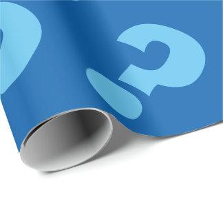 Blue question mark wrappingpaper | Matte