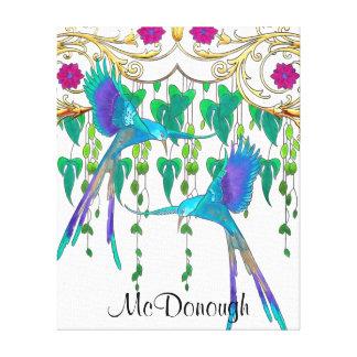 Blue Quetzal Bird Canvas Print
