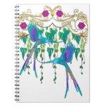 Blue Quetzal Bird Spiral Notebook