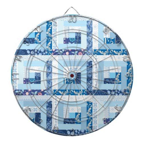 Blue Quilt Dartboard