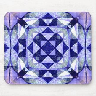 Blue Quilt Digital Art Abstract Mousepads