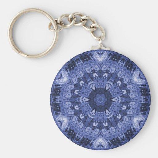 blue quilt keychain