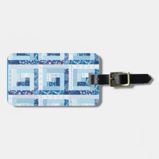 Blue Quilt Luggage Tag