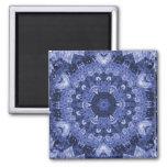 blue quilt magnet