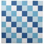 Blue Quilt Pattern Cloth Napkin