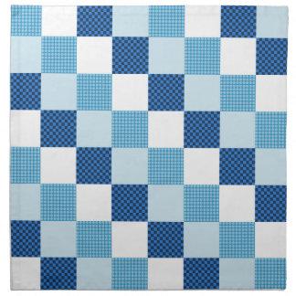 Blue Quilt Pattern Cloth Napkins