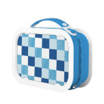 Blue Quilt Pattern Lunchbox