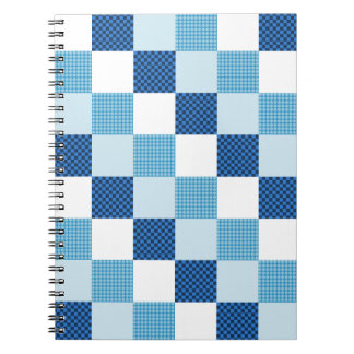Blue Quilt Pattern Note Book
