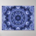 blue quilt print print