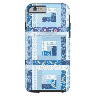 Blue Quilt Tough iPhone 6 Case