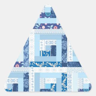 Blue Quilt Triangle Sticker