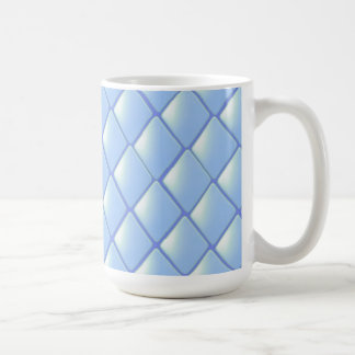 Blue Quilted Diamond Pattern Coffee Mug