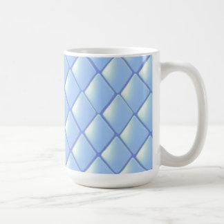 Blue Quilted Diamond Pattern Mug