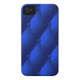 """Blue Quilted Faux """"Leather"""" Case-Mate iPhone 4 Case"""