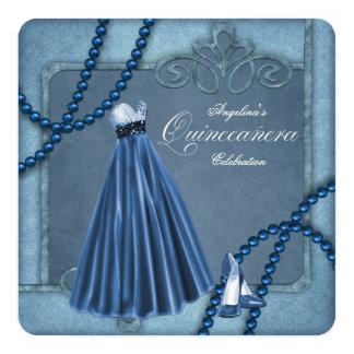 Blue Quinceanera Card