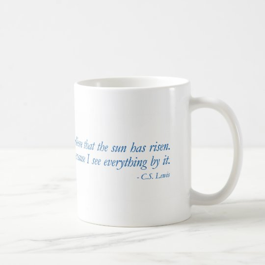 Blue Quotes - Christianity - C.S. Lewis - Mug