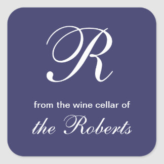 Blue R Monogram From the Wine Cellar of Labels