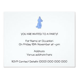 Blue Rabbit 4.25x5.5 Paper Invitation Card