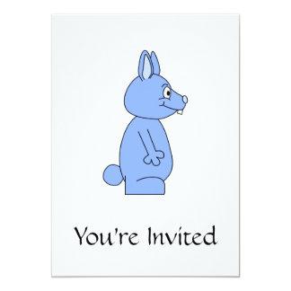 Blue Rabbit 5x7 Paper Invitation Card