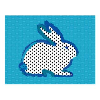 'blue rabbit' digital painting Postcard