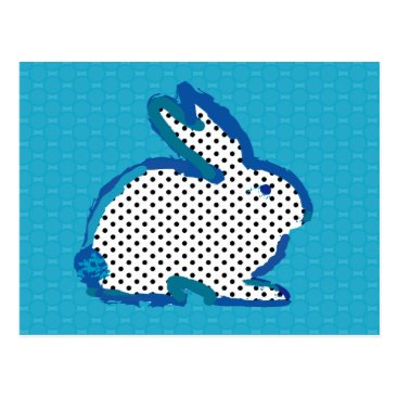 Toddler & Baby themed 'blue rabbit' digital painting Postcard