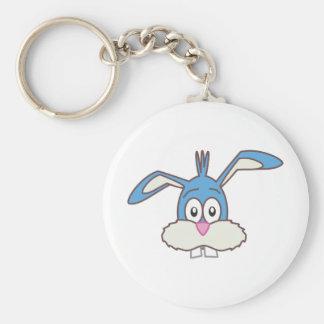 Blue Rabbit head Keychains