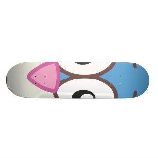 Blue Rabbit head Skateboard