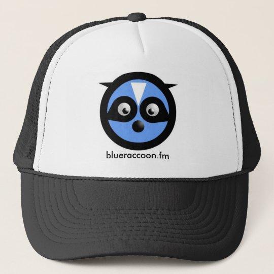 blue raccoon hat