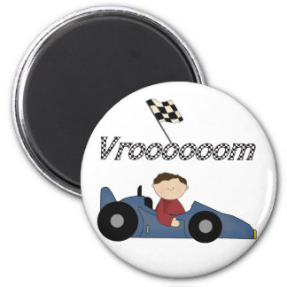 Blue Race Car Tshirts and Gifts Magnet