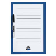 Blue Race Car with Checkered Flag Dry-Erase Boards