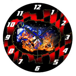 Blue racer large clock