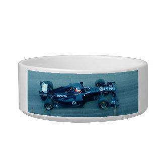 Blue Racing Car Pet Bowl