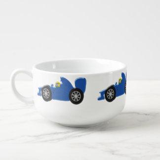 Blue Racing Car Soup Mug