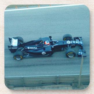 Blue Racing Car Square Coaster