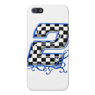 blue racing number 2 cover for iPhone SE/5/5s
