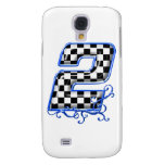 blue racing number 2 galaxy s4 cases