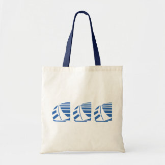 Blue Racing Sail Boats Tote Bag