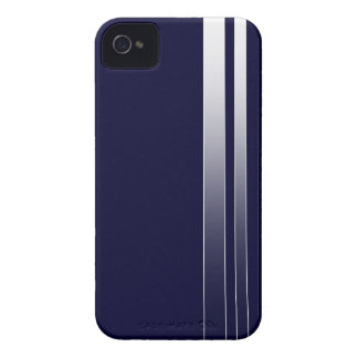 Blue Racing Stipes iPhone 4/4S Case