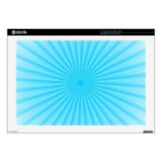 Blue Radial Base Add your own Elements Laptop Decal