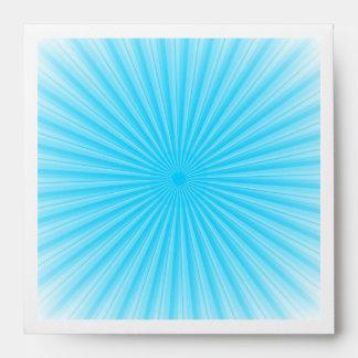 Blue Radial Sun Pattern Envelope
